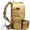 Рюкзак тактический штурмовой военный ForTactic TacticBag с подсумками на 50-60 литров, песочный, фото 3