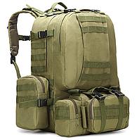 Тактический Штурмовой Военный Рюкзак с подсумками на 50-60литров Олива TacticBag