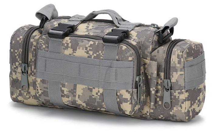 Тактическая универсальная поясная, наплечная сумочка TacticBag Пиксель