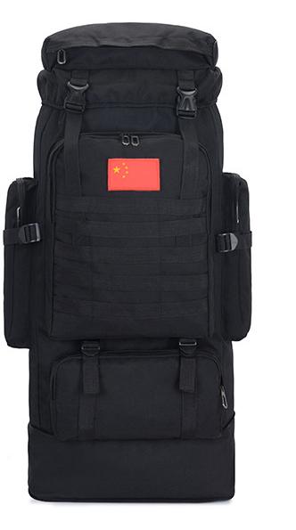 Тактический туристический городской рюкзак с системой M.O.L.L.E раздвижной на 70л- 85л TacticBag Черный