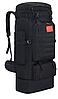 Тактический туристический городской рюкзак с системой M.O.L.L.E раздвижной на 70л- 85л TacticBag Черный, фото 2