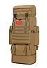 Тактический туристический городской рюкзак с системой M.O.L.L.E раздвижной на 70л- 85л TacticBag Кайот, фото 2