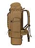 Тактический туристический городской рюкзак с системой M.O.L.L.E раздвижной на 70л- 85л TacticBag Кайот, фото 3