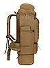 Тактический туристический городской рюкзак с системой M.O.L.L.E раздвижной на 70л- 85л TacticBag Кайот, фото 4