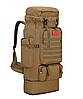 Тактический туристический городской рюкзак с системой M.O.L.L.E раздвижной на 70л- 85л TacticBag Кайот, фото 5