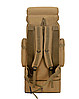 Тактический туристический городской рюкзак с системой M.O.L.L.E раздвижной на 70л- 85л TacticBag Кайот, фото 6
