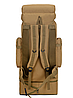 Тактический туристический городской рюкзак с системой M.O.L.L.E раздвижной на 70л- 85л TacticBag Кайот, фото 7