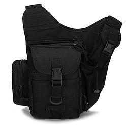 Універсальна міська тактична сумка TacticBag Чорна