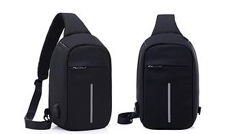 Міський рюкзак-протикрадій Bobby Mini USB, Боббі, рюкзак через плече Чорний