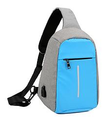 Городской рюкзак-антивор Bobby Mini с USB, Бобби, рюкзак через плечо Голубой