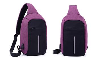 Міський рюкзак-протикрадій Bobby Mini USB, Боббі, рюкзак через плече Фіолетовий