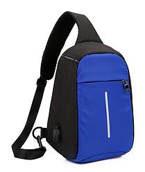 Міський рюкзак-протикрадій Bobby Mini USB, Боббі, рюкзак через плече Світло-синій