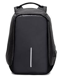 Рюкзак Bobby Боббі з захистом від кишенькових злодіїв протикрадій USB роз'єм Чорний