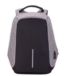 Рюкзак Bobby Боббі з захистом від кишенькових злодіїв протикрадій USB роз'єм Сірий