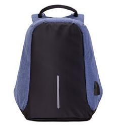Рюкзак Bobby Боббі з захистом від кишенькових злодіїв протикрадій USB роз'єм Синій