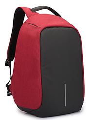 Рюкзак Bobby Боббі з захистом від кишенькових злодіїв протикрадій USB роз'єм Червоний
