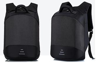 Рюкзак міський протикрадій з відділенням для ноутбука 15,6 USB Baibu Чорний