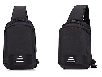 Сумочка-рюкзак протикрадій Baibu Mini USB рюкзак через плече Чорний