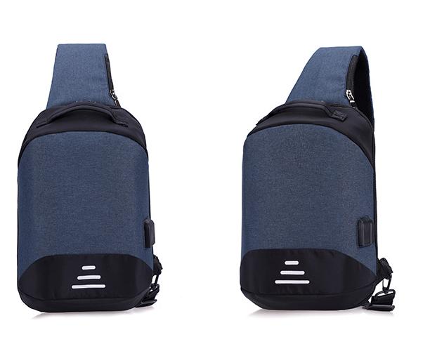 Сумочка-рюкзак антивор Baibu Mini с USB  рюкзак через плечо Синий
