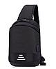 Сумочка-рюкзак антивор Baibu Mini с USB  рюкзак через плечо Синий, фото 6