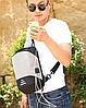 Сумочка-рюкзак антивор Baibu Mini с USB  рюкзак через плечо Синий, фото 9