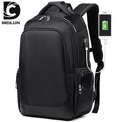Рюкзак міський,шкільний Meilun c USB Чорний
