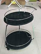 Сервірувальний столик V323 Exm, метал + сірий МДФ