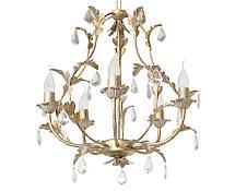 """Люстра кованая малая  """"Весна""""  с хрусталем старая бронза на 3 лампы диаметр 270мм, фото 3"""