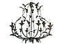 """Люстра кованая малая  """"Весна""""  с хрусталем старая бронза на 3 лампы диаметр 270мм, фото 2"""