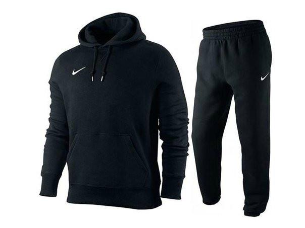Чорний чоловічий спортивний костюм кенгуру Nike (Найк)