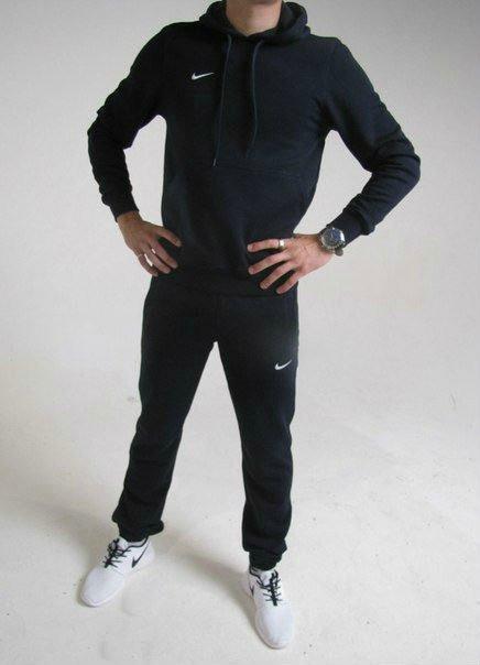 b459867d Черный мужской спортивный костюм кенгуру Nike (Найк), цена 1 300 грн.,  купить в Киеве — Prom.ua (ID#979418078)