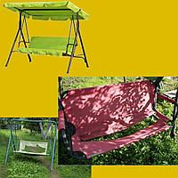 Чехлы для садовых качель цвет олива (темно зеленый)