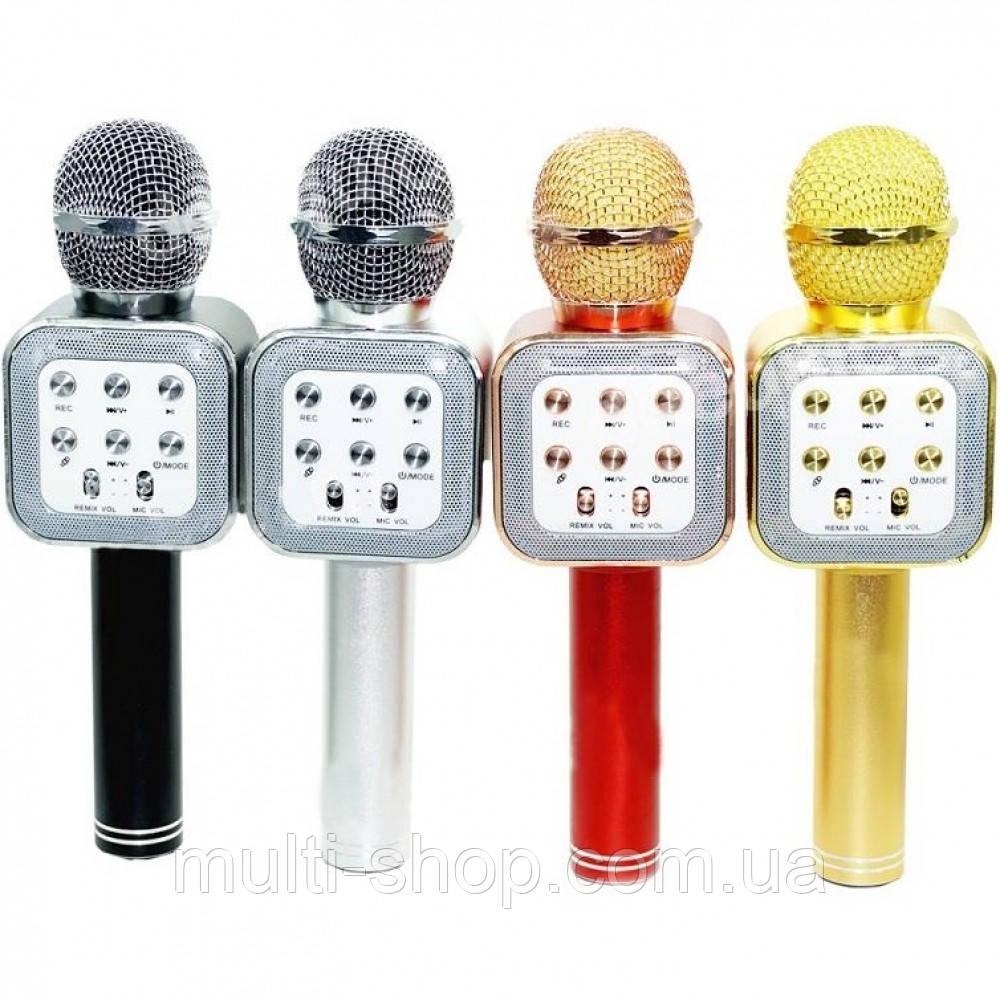 Портативний бездротової блютуз мікрофон WS-1818 + караоке