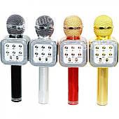 Портативный беспроводной блютуз микрофон WS-1818 + караоке