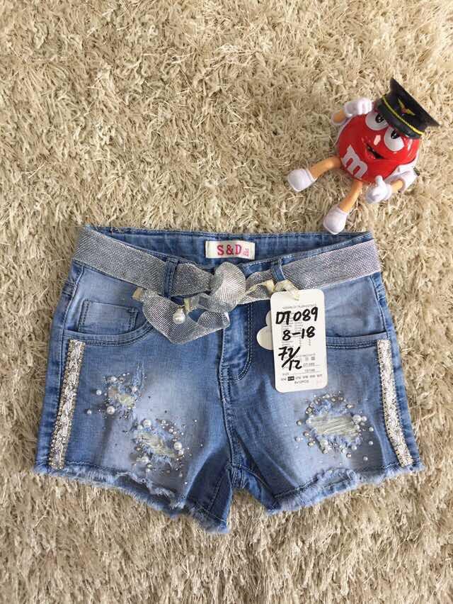 Джинсовые шорты для девочек. оптом из Венгрии