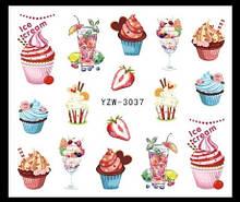 """Наклейки для ногтей """"Мороженное"""" YZW-3037"""