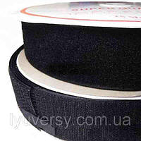 Липучка текстильная 100 мм. черный (25м)