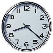 ПУГГ Настенные часы, нержавеющ сталь, хромированный, 10391908, IKEA, ИКЕА, PUGG