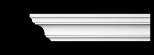 Карниз потолочный гладкий Classic Home 2-0801, лепной декор из полиуретана