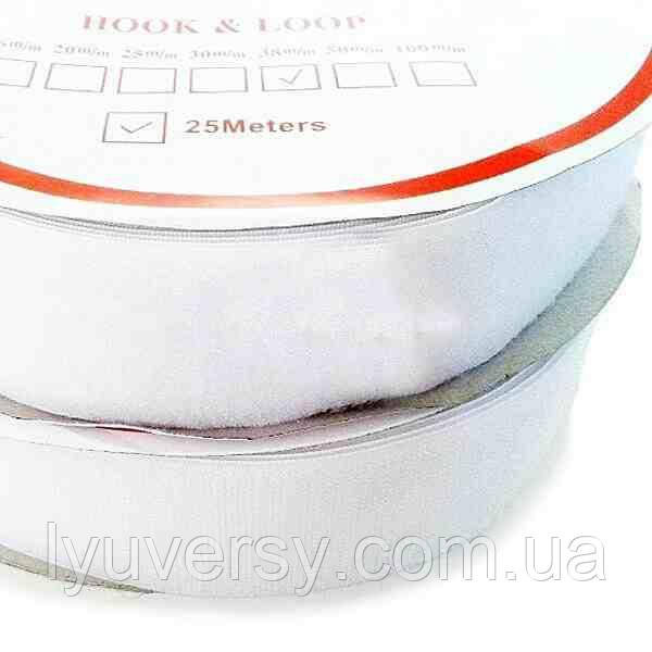 Липучка текстильна 100 мм. білий (25м)