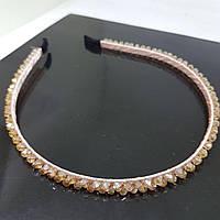 Прикраса-ободок для волосся Fashion Jewelry зі стеклярусом Бежевий