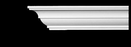 Карниз потолочный гладкий Classic Home 2-0850, лепной декор из полиуретана