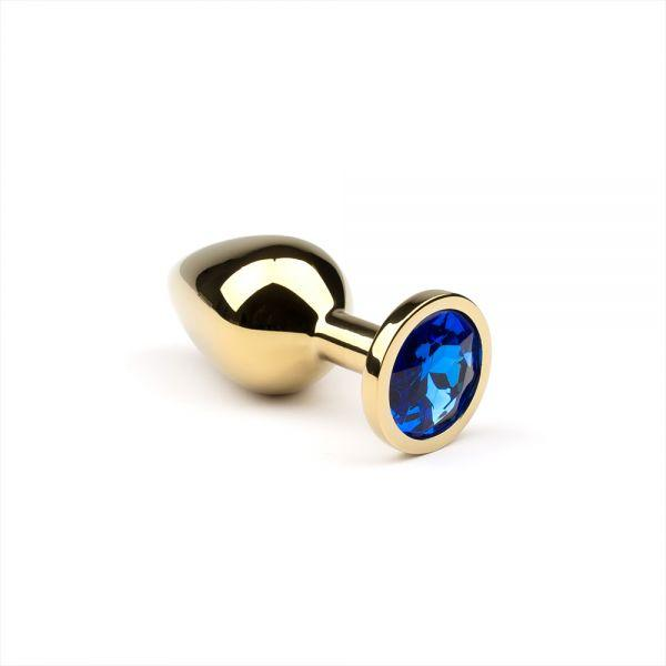 Анальная пробка,Gold Sapphire,M