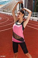 Стильный летний костюм спортивный женский-2 цвета S M L