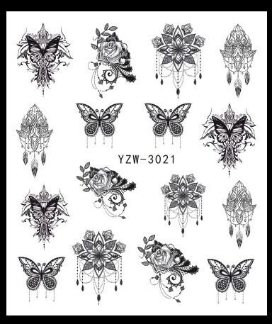 Наклейки для ногтей YZW-3021