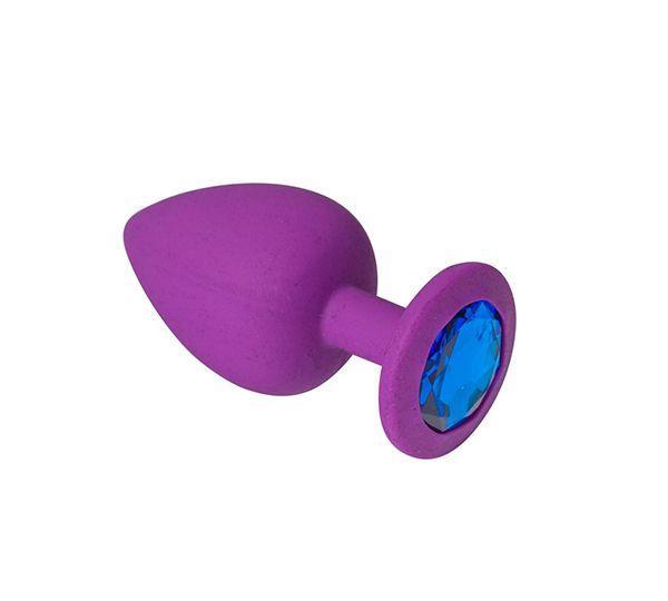Анальная пробка, Purple Silicone Sapphire, L