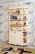 Стелаж для книг з масиву дерева в стилі прованс РКБ-Меблі, колір на вибір