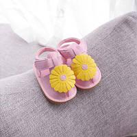 Яркие  сандалии с ромашкой