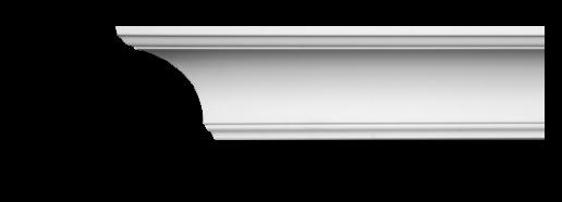 Карниз потолочный гладкий Classic Home 2-1002, лепной декор из полиуретана