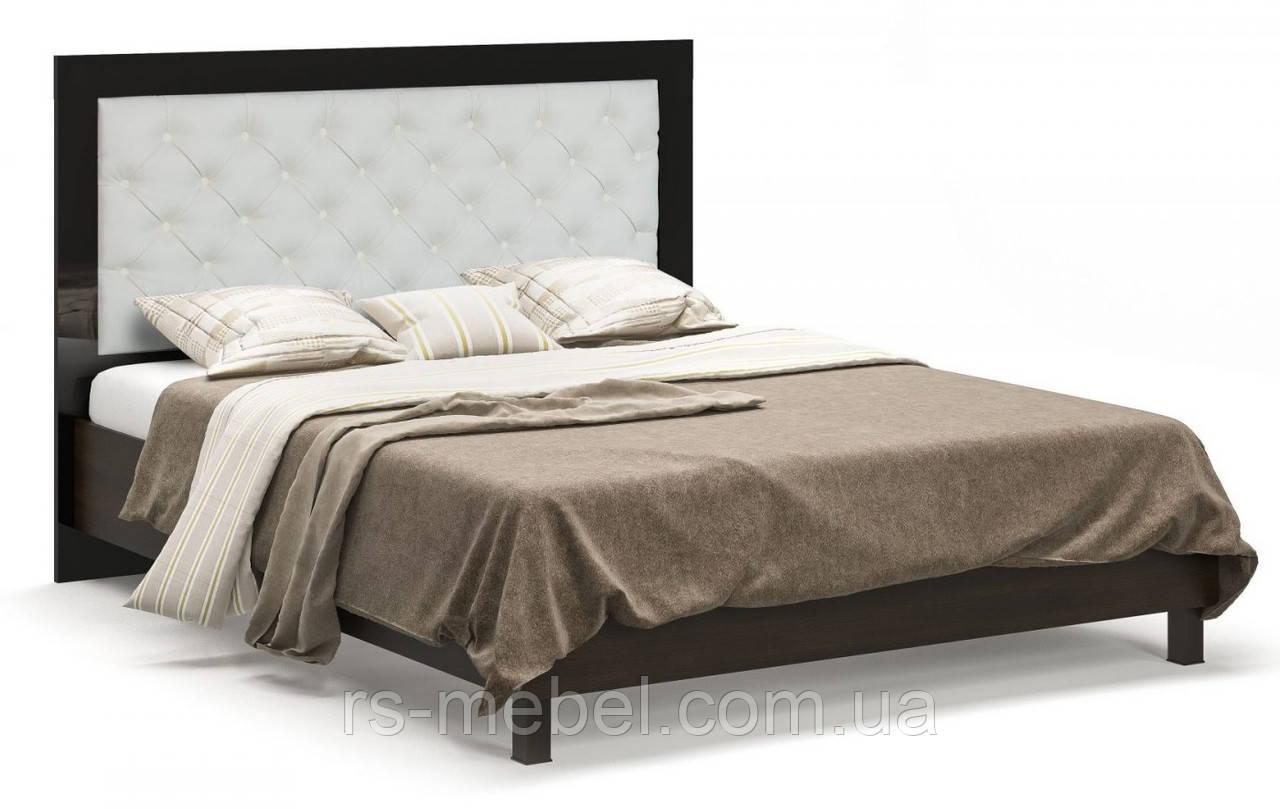 """Ліжко 160 """"Єва венге"""" (Мебель-Сервіс)"""